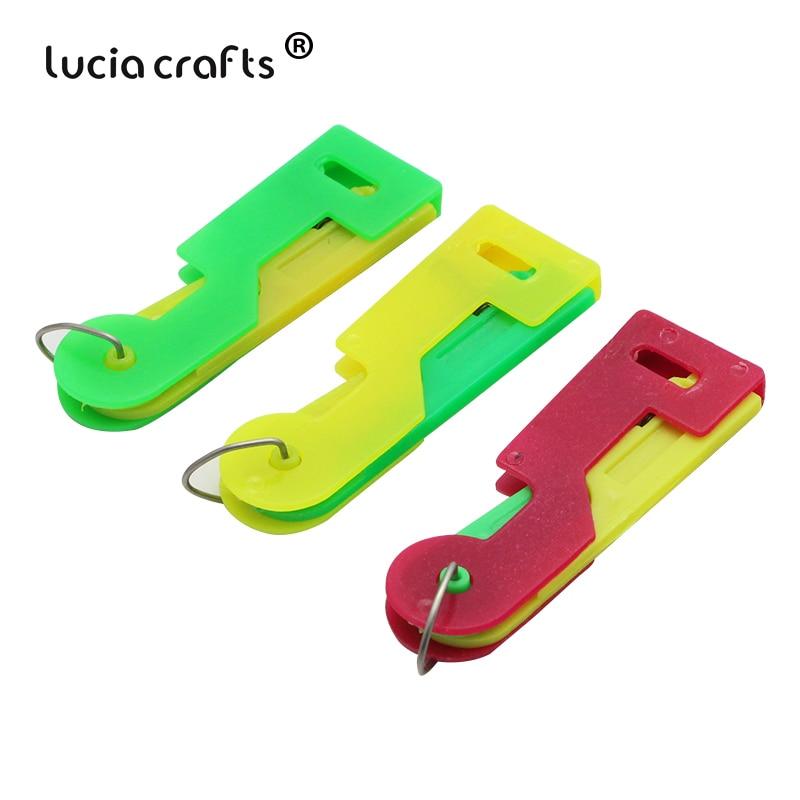 1 unid/lote 6,5 cm color al azar de enhebrador de aguja ayudante de dispositivo para aguja enhebrador de hilo herramienta de guía J0236