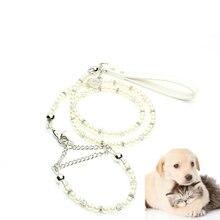 Collier de perles pour animaux   2019 offre spéciale, ensemble de perles de luxe pour collier, Jogging, plein air, colliers de perles, corde pour chien, collier de chat
