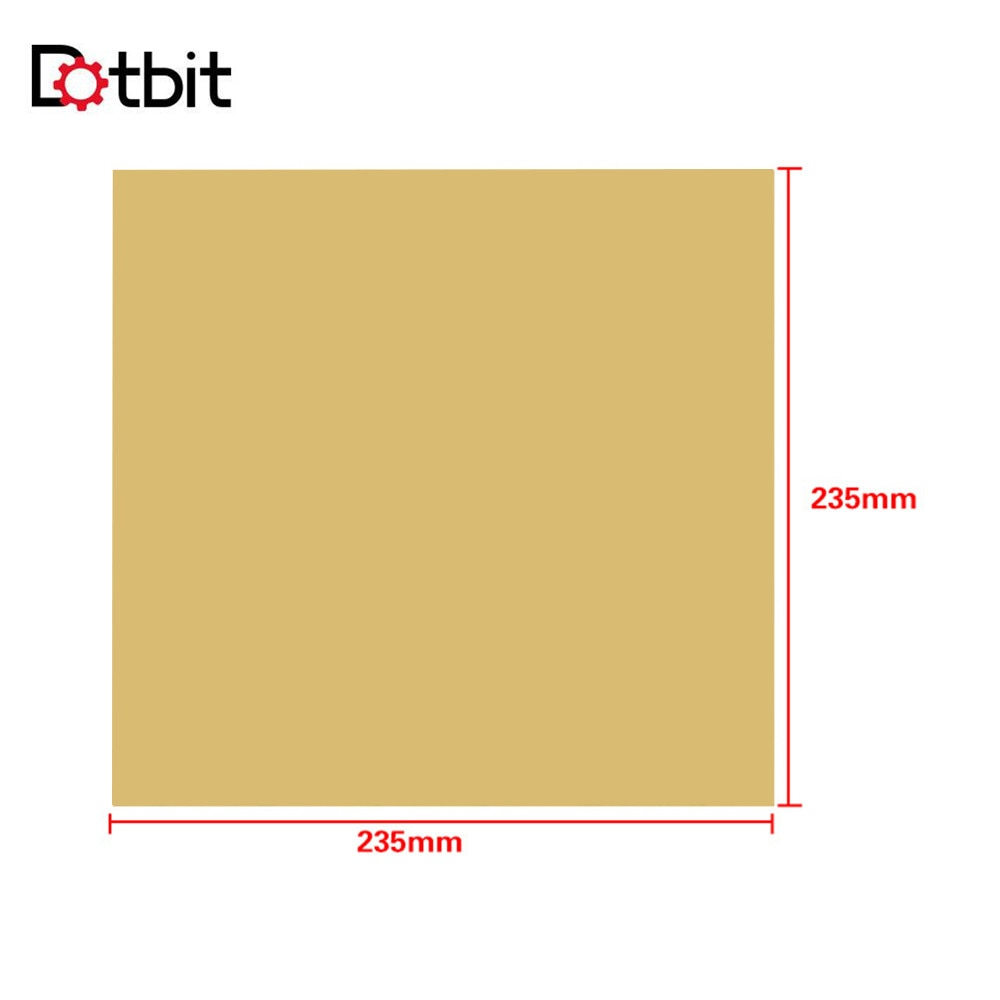235*235mm 3D PEI hoja adhesiva impresora Base construir superficie para PEI Ender-3 accesorios de impresora