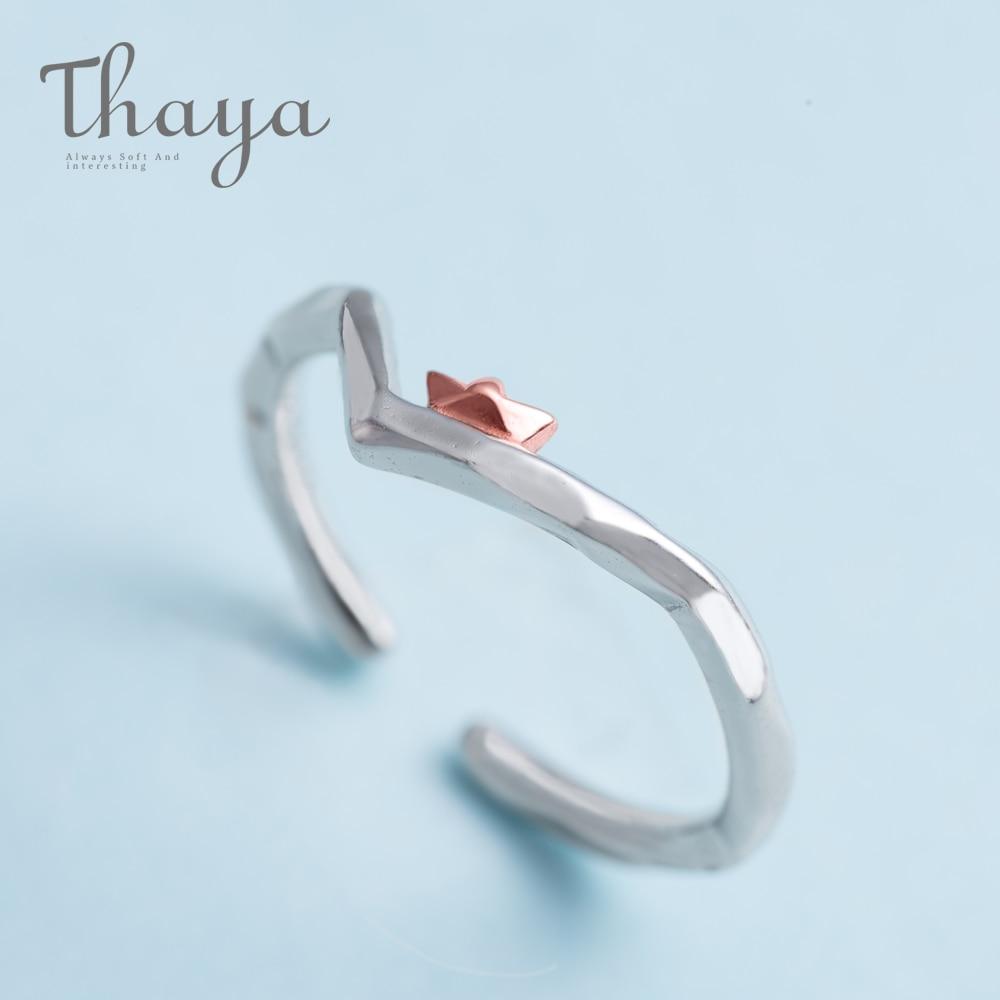 Кольцо на палец Thaya To Ride the Winds and Break The Waves, розовое золото s925 пробы, серебряные украшения ручной работы для женщин, подарок
