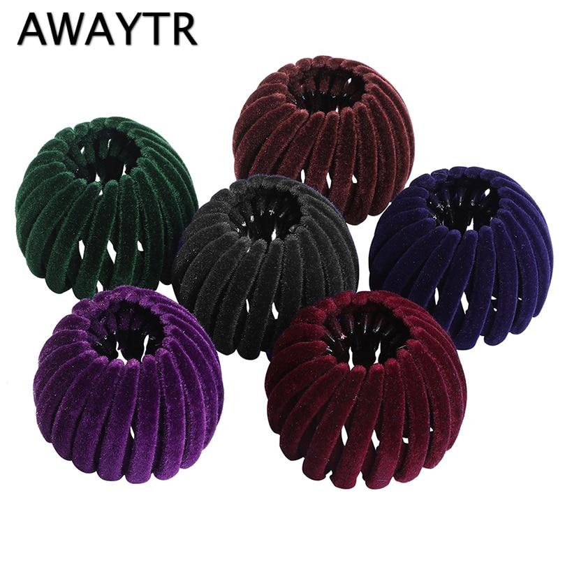 AliExpress - AWAYTR Retro Bird Nest Ball Hair Claws for Women Hairpin Girls Headwear Rhinestones Ponytail Holder Hairgrips Hair Accessories