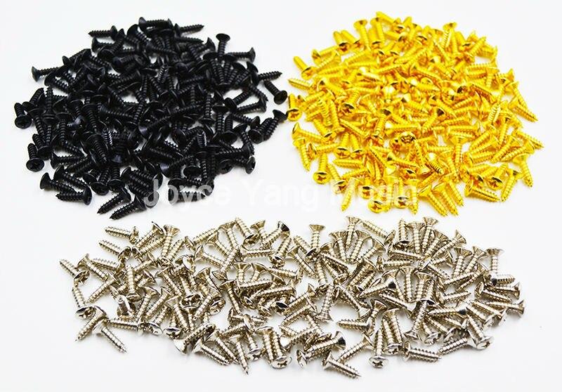 Набор Niko 50 шт. хромированных/черных/золотых крепежных винтов для гитары 3*12 мм для ST/TL LP/SG бас для электрогитары