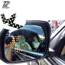 Luz de señal de giro de espejo trasero de estilo de coche ZD 2 uds para Toyota Avensis Rav4 Audi Q5 A6 Renault Captur Skoda Yeti Ford Mondeo