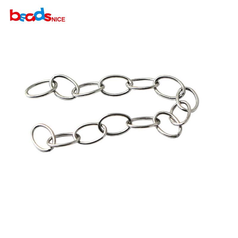 Beadsnice pur 925 bijoux en argent sterling chaîne extender à la main collier extender en gros en prix usine ID27516