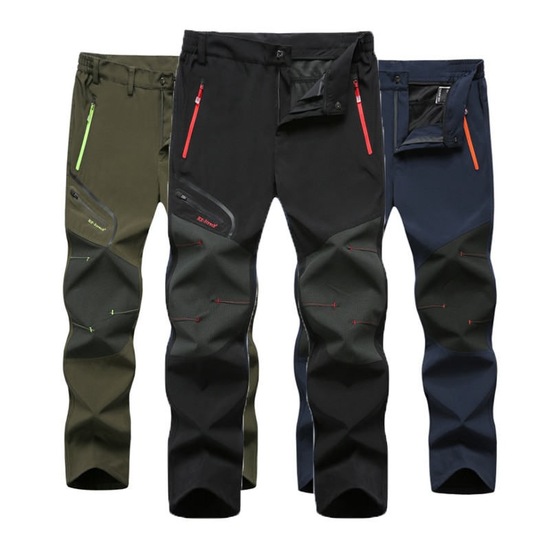 Брюки мужские летние большого размера, Модные непромокаемые штаны для активного отдыха, походов, рыбалки, скалолазания, бега