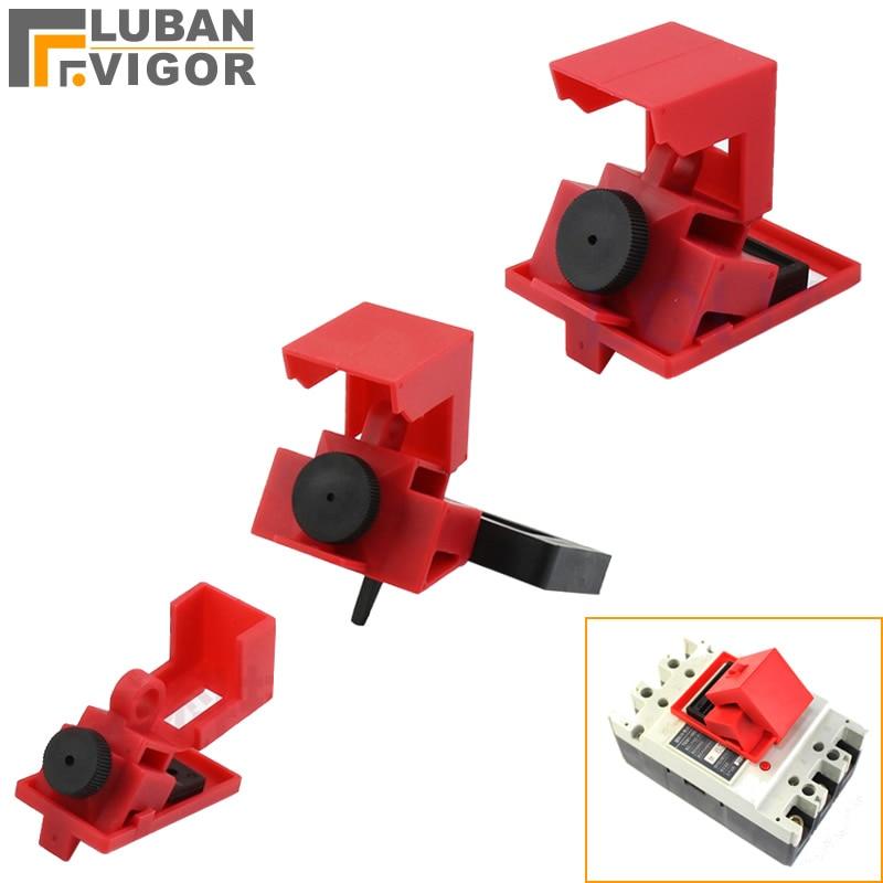 Interruptor de interruptor de abrazadera, bloqueo de aislamiento de energía, bloqueo de seguridad, para diferentes interruptores, plásticos de ingeniería, hardware de seguridad