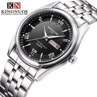 Male Wristwatches Relogio Masculino Luxury Brand Stainless Steel Analog Display Date Week Waterproof Men's Quartz Watch Business