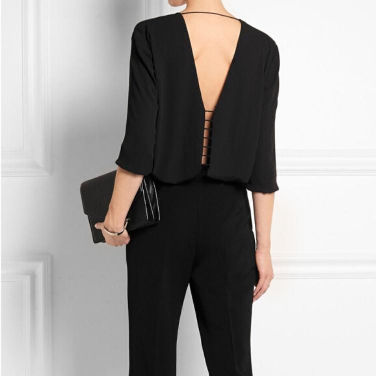 UK Marke Neue 2020 Frühling Sommer frauen V neck Backless Casual Schwarz Chiffon top Bluse Shirt Weibliche Blusas camisa feminina za