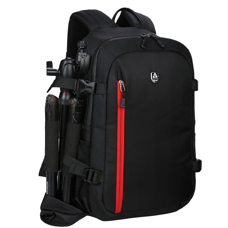 Oxford tela de gran capacidad impermeable cámara de fotografía/bolsa de vídeo DSLR Cámara mochila al aire libre foto bolsa para Nikon Canon Sony