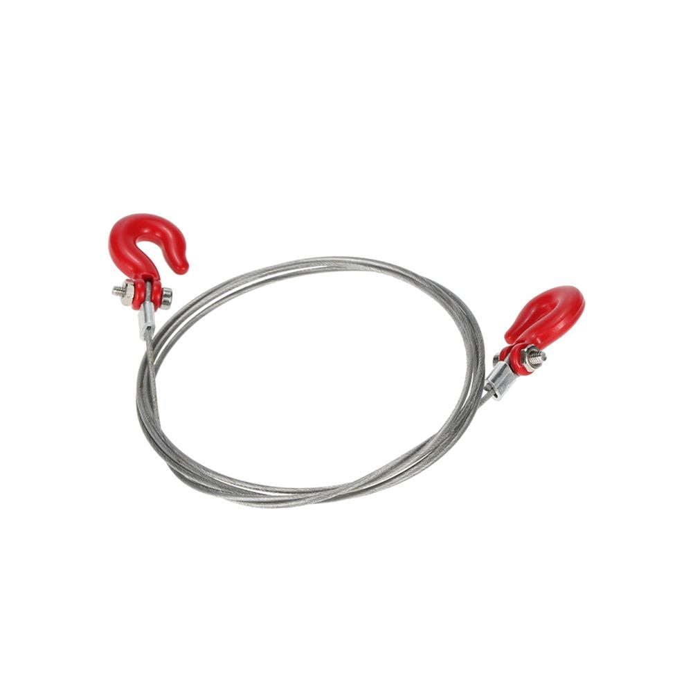 1 10 acessórios da esteira rolante rc metal reboque fio corda de reboque com ganchos para carro rc 1/10 d90 axial scx10 rc peças de carro