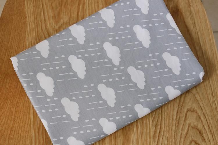Envío Gratis, sábanas de tela de algodón, cubierta de edredón, cama de 2 metros, 35 nubes de lluvia grises