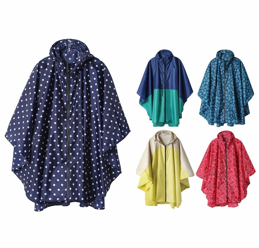 Chubasquero de moda Freesmily para mujer, Poncho impermeable para la lluvia con capucha para senderismo escalada y turismo