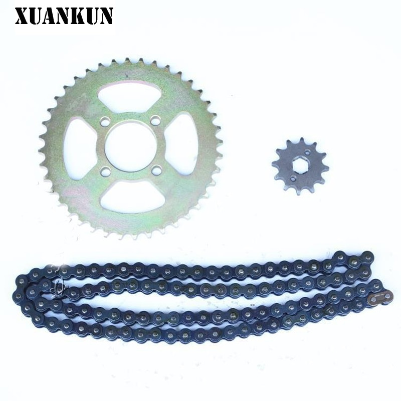 XUANKUN Beach Car motocicleta modificada engrosamiento 530 cadena placa cadena rueda juegos de cadena