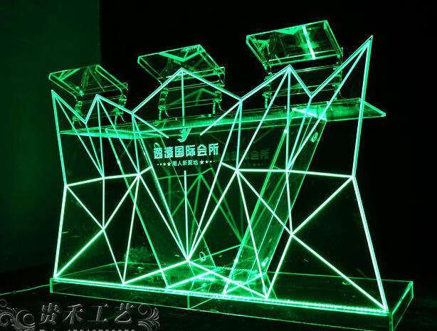 GH-C019 חדש עיצוב Led בר דלפק/מואר שולחן/Led מואר ריהוט שקוף אקריליק L150 * W55 * H120cm
