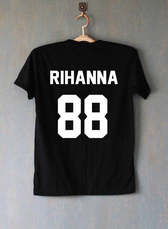 Camiseta Rihanna, camiseta, camisetas, camiseta, Unisex, más tamaño y colores-A110