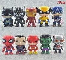 Kinder geschenk 10 teile/los Die Avengers Dekorative innenausstattung Height10 cm Hulk Spielzeug Modelle