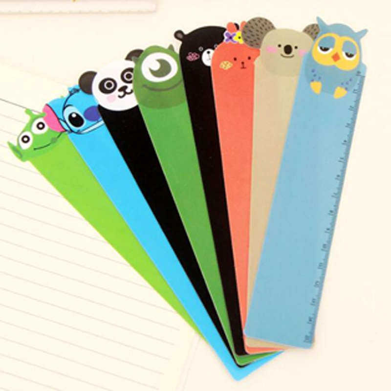 30pcs/lot 15cm Cute Cartoon Plastic Ruler Measuring Straight Gift Stationery Kids Prize Novelty School Material Korean