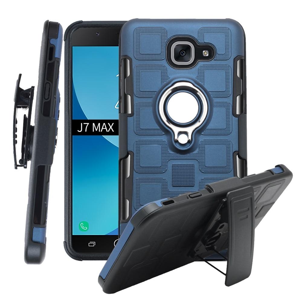 Funda trasera para Samsung Galaxy J7 Max India soporte de anillo a prueba de golpes funda de teléfono para samsung G615F