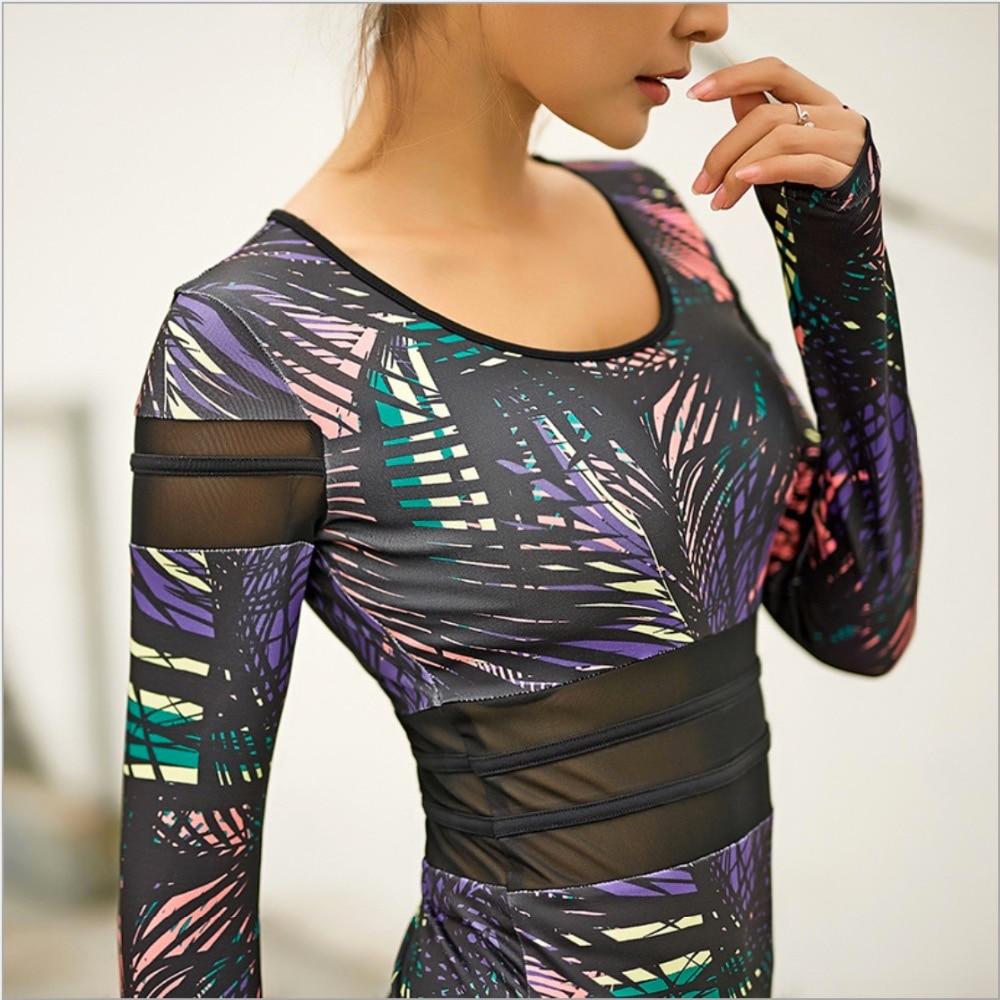 Camiseta EF Top para correr para mujer, Camiseta deportiva para gimnasio con sujetador, Camiseta deportiva para Yoga, Camiseta de tirantes para entrenamiento, impresión en paneles de malla