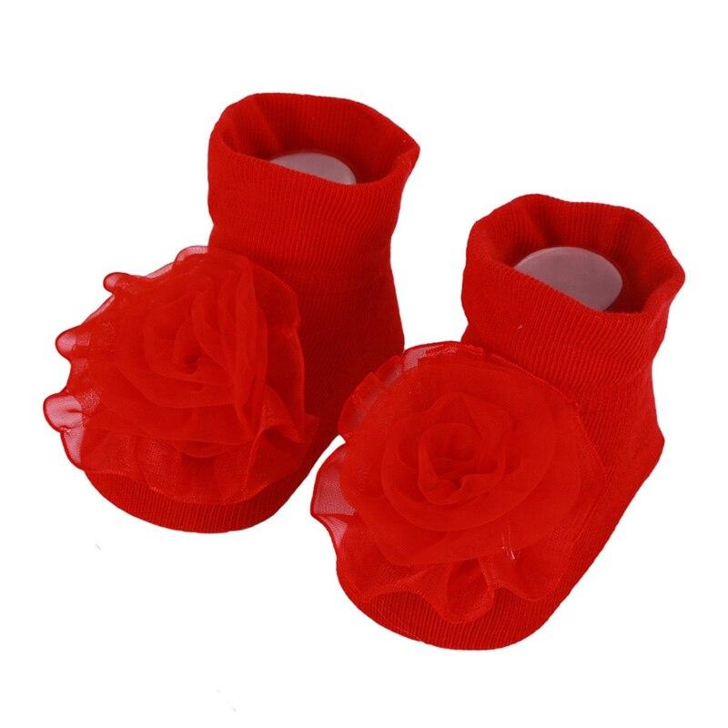 Calcetines de encaje para bebé recién nacido lazada de Princesa calcetines de algodón tejido de bebé 0-1 años