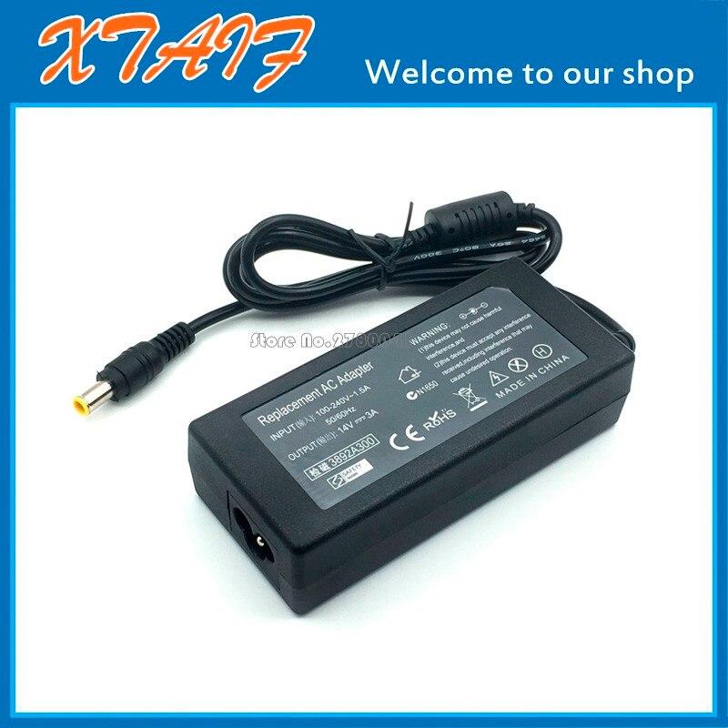 Adaptador de fuente de alimentación de 14V 3A CA/CC para Samsung S22D300HY...