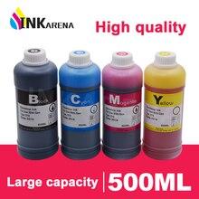 500ml Schwarz Farbe Drucker Tinte Dye Refill Kit Für Canon Pixma Für HP Refill Patronen Ciss Tinte Tank System für Epson Für Brother
