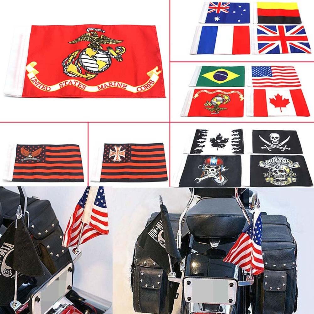 Marco de placa de motocicleta doble poste soporte para bandera para Decorativo estilo K Universal
