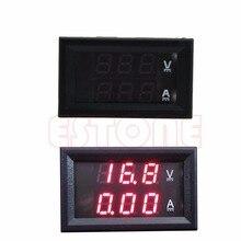 OOTDTY DC 100 V 50A double voltmètre numérique ampèremètre rouge LED ampèremètre + courant Shunt