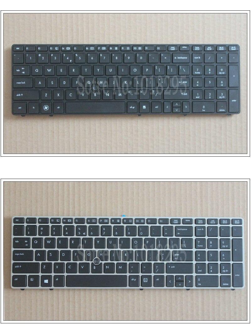 Nowy angielska klawiatura dla HP EliteBook 8560p 8570P 8560B 6560b 6565b 6560P klawiatura laptopa us z granicy