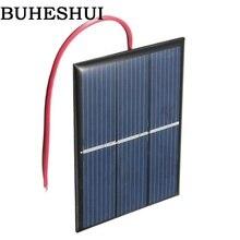 BUHESHUI gros 0.65 W 1.5 V cellule solaire polycristallin panneau solaire bricolage chargeur solaire + 15 CM câble 80*60 MM 50 pcs livraison gratuite