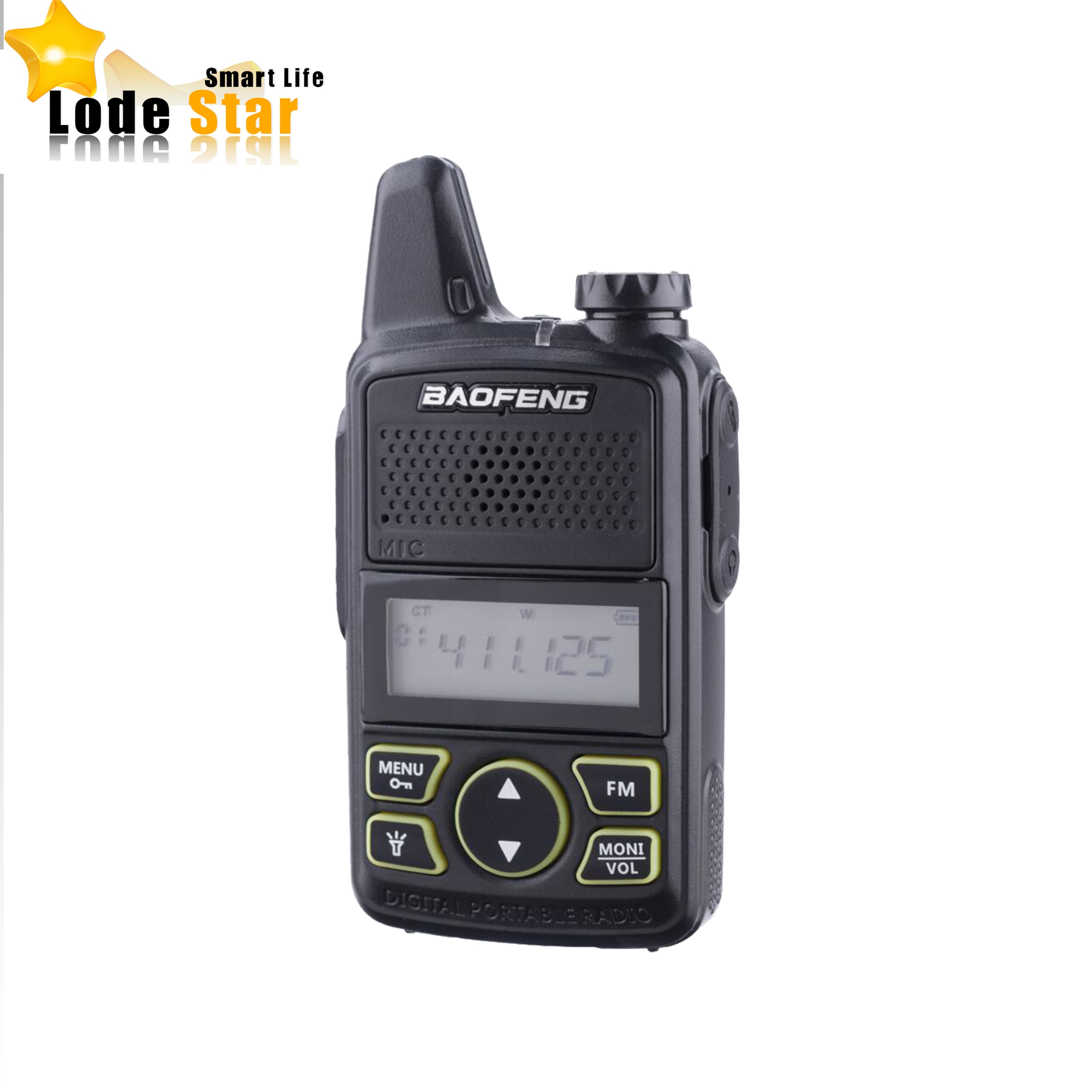 Walkie talkie baofeng t1 portátil, rádio bidirecional BF-T1 uhf 400-470mhz 20ch ham fm cb transmissor de rádio portátil