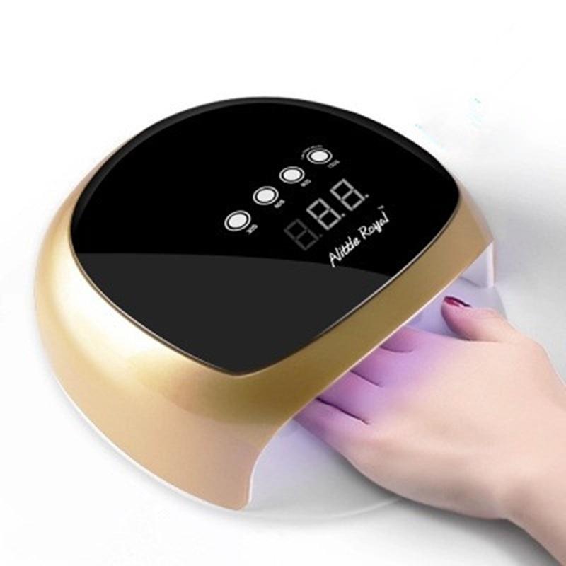 Lampa żel UV 52 W lampa LED do paznokci SUN4Plus wyświetlacz LCD podwójne ekran dotykowy włącznik światła na ścianie, przyciski suszarka do paznokci złoty biały światło UV do paznokci do paznokci