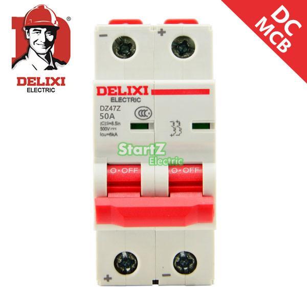 50A 2 p DC250V DC MCB Disjuntor DELIXI DZ47Z
