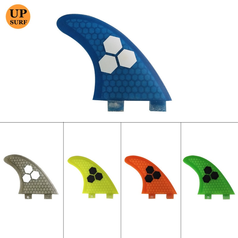 FCS Fins G7 Fiberglass Honeycomb Fiber Blue green orange yellow grey Surf Surfboards Fins 3 piece per set