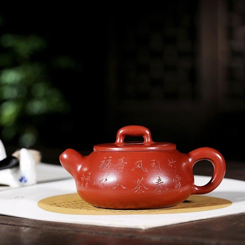خام خام dahongpao أوصى أصيلة الشاي الخيزران لو حجر الماجستير جميع اليد مغرفة وعاء إبريق الشاي wechat الأعمال