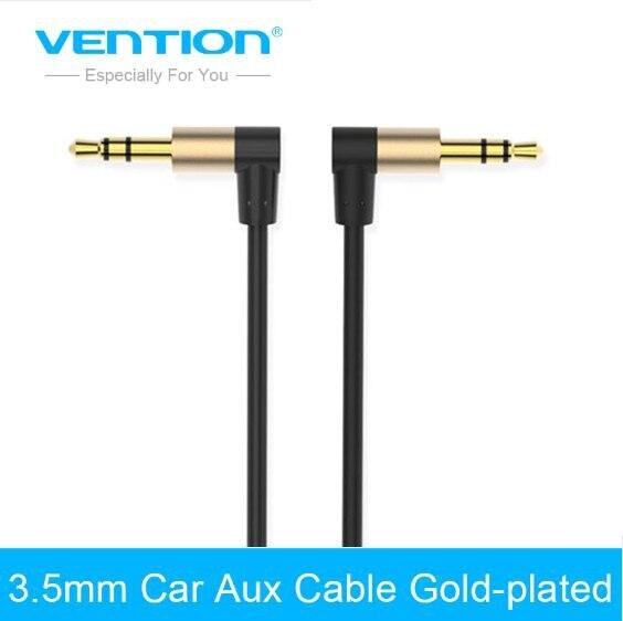 Cable auxiliar Vention Cable de Audio Jack de 3,5mm a 3,5mm Cable auxiliar estéreo de ángulo de 90 grados para coche de teléfono altavoz aux mp3 jugador