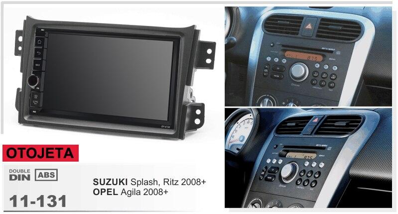 Navirider gps bluetooth estéreo android 9.1 multimídia do carro para suzuki respingo ritz opel agila 2008 navi rádio carro + quadro câmera