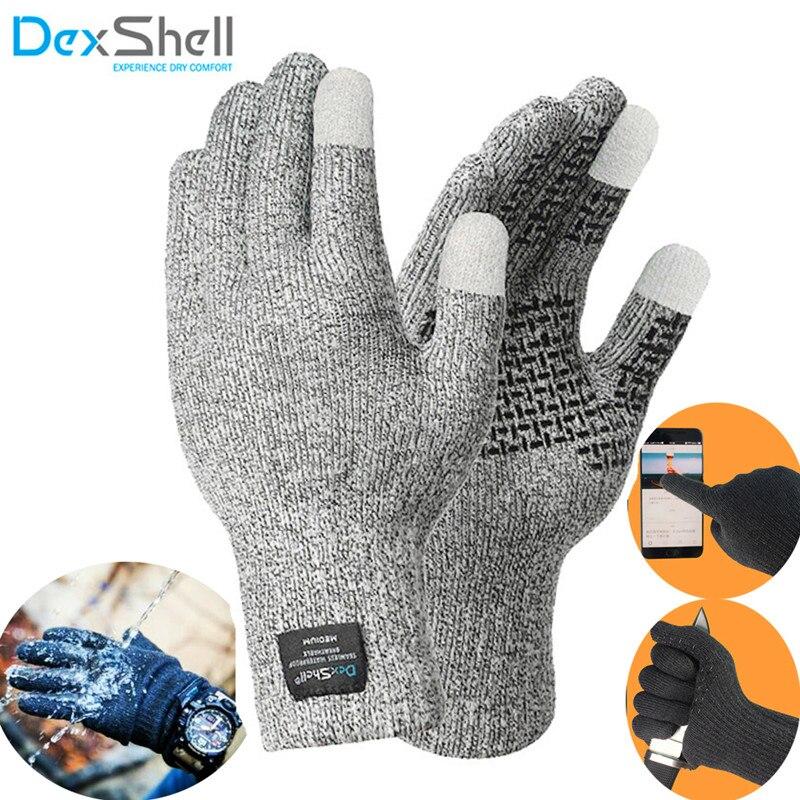 Dexshell Coolmax impermeable guantes de la pantalla táctil de la prueba de los hombres de pesca escalada deportes al aire libre de esquí de trabajo impermeable guantes
