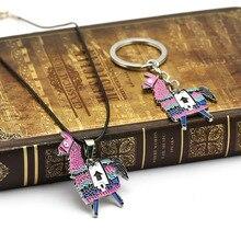 Bataille Royale alpaga porte-clés breloque collier pendentifs porte-clés en métal pour hommes accessoire