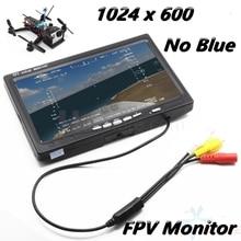 7 pouces LCD TFT FPV moniteur 1024x600 w/T prise écran pas de bleu FPV moniteur photographie pour Station au sol Phantom RC modèle QAV250