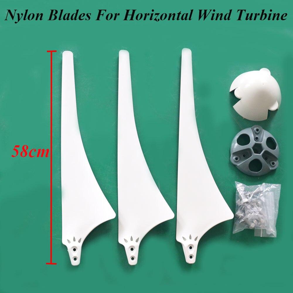 Nuevas cuchillas de China diseñadas para turbina eólica Horizontal 100w 200w 300w 400w 500w 600w 800w generador de viento accesorios DIY cuchillas