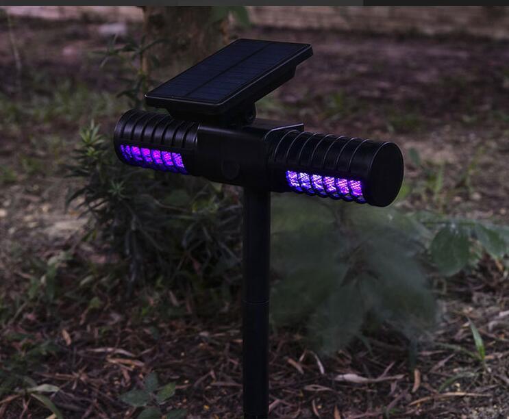 Heißer verkauf Solar UV Energie Moskito Mörder Zapper Outdoor USB Wasserdichte Anti-moskito Lampe für Falle Repellent Insekten-schwarz