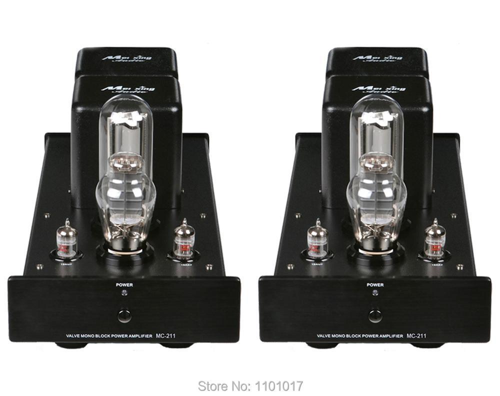 Meixing Mingda MC211 Square Version MonoBlock Pure Power Tube Amp HIFI EXQUIS MC-211 300B 2A3 211 Lamp Amplifier