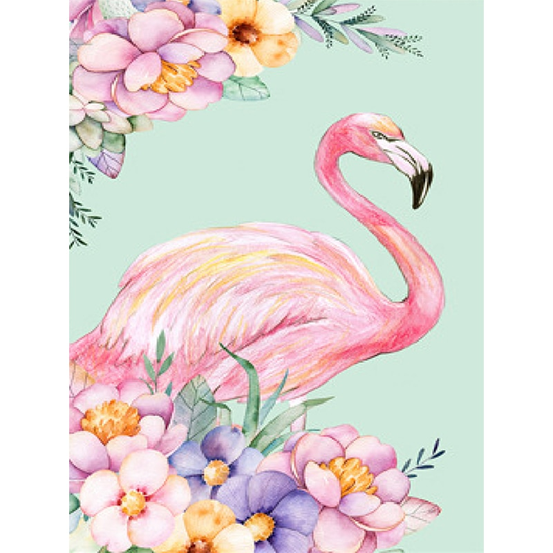 Voll Platz/runde Diamant 5D DIY Diamant Malerei Flamingo Stickerei Kreuz Stich Strass Mosaik Wohnkultur