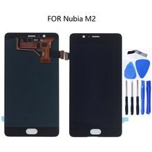 "Pantalla AMOLED de 5,5 ""para ZTE Nubia m2 NX551J LCD pantalla táctil digitalizador accesorios para ZTE Nubia m 2 pantalla kit de reparación"