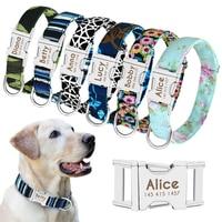 Именной ошейник для собак, персонализированный нейлоновый аксессуар для питомца, именная табличка для щенков и кошек, регулируемый, для сре...