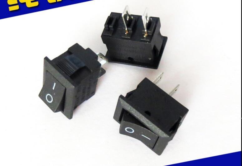 20 шт., переменный ток 250 В, 3 А, переменный ток 125 В, 6 А, 2-контактный ВКЛ./ВЫКЛ., вход/выход SPST, защелкивающийся мини-переключатель 21*15 мм