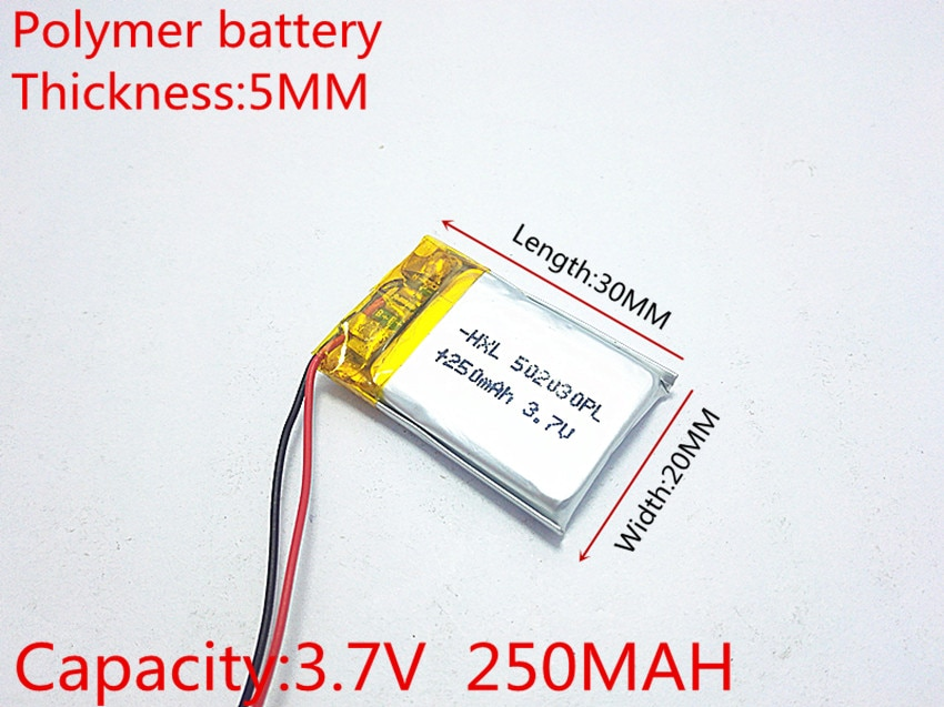 3 7 в 250 мАч 502030 литий полимерные ионные аккумуляторные батареи для Mp3 MP4 MP5