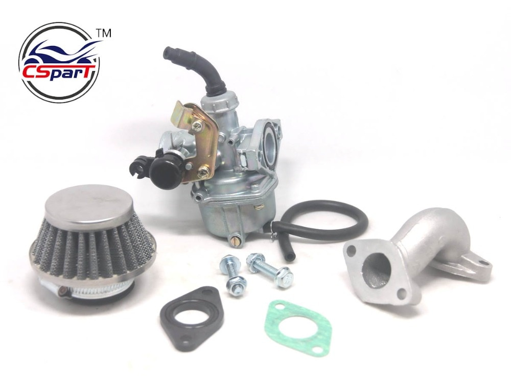 Cuña de cable 19mm PZ19 carburador de admisión de aire Kit de filtro 50cc 70cc 90cc 110cc 125cc ATV Quad