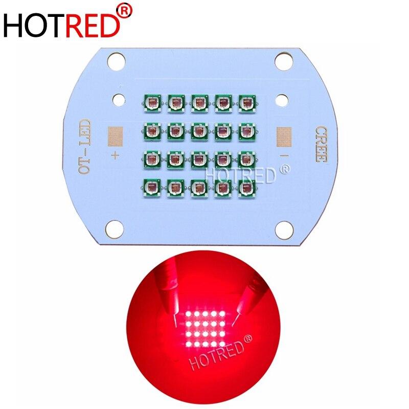 Chip LED de alta potencia de 50W 60W 660 nm, luz LED roja profunda de 660 nm, emisor de diodos COB + controlador + disipador térmico + enfriador + reflector de lente